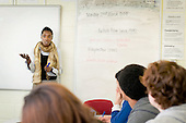 Michelle McLeod, Advanced Skills Teacher, teaches a Media Studies A Level class at Preston Manor School, Wembley