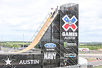 X game participants practice and prepare their equipment before the summer X-Games get started at the Circuit of the Americas race track in Austin, Texas.