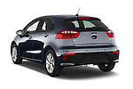 Car pictures of rear three quarter view of2015 KIA Rio World Edition 5 Door Hatchback Angular Rear