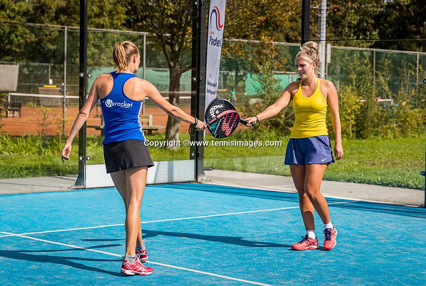 Netherlands, September 5,  2020, Amsterdam, Padel Dam, NK Padel, National Padel Championships, Womans doubles: <br /> Photo: Henk Koster/tennisimages.com