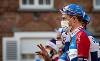 Niki Terpstra (NED/Total - Direct Energie) at the race start in Ypres<br /> <br /> 83rd Gent-Wevelgem - in Flanders Fields (ME - 1.UWT)<br /> 1 day race from Ieper to Wevelgem (BEL): 254km<br /> <br /> ©kramon