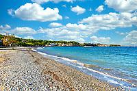 The beach Pefki in Evia island, Greece