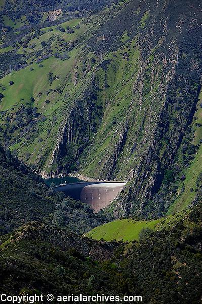 aerial photograph Monticello Dam, Napa County, California
