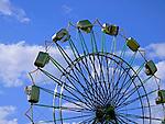 Ferris wheel at the Western Washington State Fair in Puyallup, Washington.  2009.