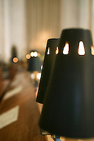 Lamps in the choir stalls, Guildford Cathedral.