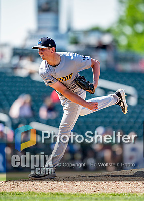 23 June 2019: Trenton Thunder pitcher Brooks Kriske on the mound against the New Hampshire Fisher Cats at Northeast Delta Dental Stadium in Manchester, NH. The Thunder defeated the Fisher Cats 5-2 in Eastern League play. Mandatory Credit: Ed Wolfstein Photo *** RAW (NEF) Image File Available ***