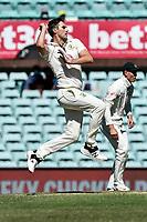10th January 2021; Sydney Cricket Ground, Sydney, New South Wales, Australia; International Test Cricket, Third Test Day Four, Australia versus India; Pat Cummins of Australia bowling