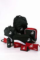 Swansea City FC back to school, bags and school accessories studio photo-shoot at the Liberty Stadium, Swansea, Wales, UK. Wednesday 10 August 2017