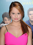Debby Ryan attends That Awkward Moment Premiere held at The Premiere House at Regal Cinemas L.A. Live in Los Angeles, California on January 27,2014                                                                               © 2014 Hollywood Press Agency