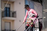 Valerio Conti (ITA/UAE-Emirates) is the new Maglia Rosa / overall leader<br /> <br /> Stage 6: Cassino to San Giovanni Rotondo (233km)<br /> 102nd Giro d'Italia 2019<br /> <br /> ©kramon