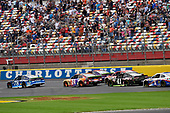 Monster Energy NASCAR Cup Series<br /> Bank of America 500<br /> Charlotte Motor Speedway, Concord, NC USA<br /> Sunday 8 October 2017<br /> Martin Truex Jr, Furniture Row Racing, Auto-Owners Insurance Toyota Camry and Chase Elliott, Hendrick Motorsports, SunEnergy1 Chevrolet SS<br /> World Copyright: Nigel Kinrade<br /> LAT Images