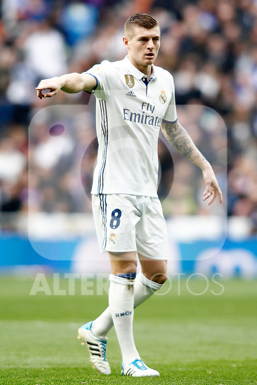 Real Madrid's Toni Kroos during La Liga match. February 18,2017. (ALTERPHOTOS/Acero)