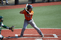 Nick Thornquist (33) of the UTSA Roadrunners at bat against the Charlotte 49ers at Hayes Stadium on April 18, 2021 in Charlotte, North Carolina. (Brian Westerholt/Four Seam Images)