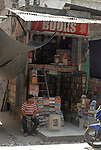 Bookshop in the Paharganj district of New Delhi, India.