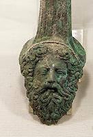 Nordzypern, Museum Agios Mamas in Güzelyurt (Morfou), Fund aus Soli, Grab 4 aus klassischer bis hellenistischer Zeit, gefunden 2005, Zeus aus Kupfer