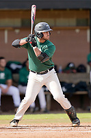 Devin Buckner (23) of the University of South Carolina Upstate Spartans Green team bats in the Green and Black Fall World Series Game 2 on Saturday, October 31, 2020, at Cleveland S. Harley Park in Spartanburg, South Carolina. Green won, 6-5. (Tom Priddy/Four Seam Images)