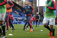 Swansea City Head Coach Francesco Guidolin pictured on the pitch during the pre match warm up ahead of the  Barclays Premier League match between Everton and Swansea City played at Goodison Park, Liverpool