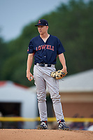 Lowell Spinners pitcher Ryan Zeferjahn (41) during a NY-Penn League game against the Batavia Muckdogs on July 11, 2019 at Dwyer Stadium in Batavia, New York.  Batavia defeated Lowell 5-2.  (Mike Janes/Four Seam Images)