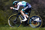 Frederik Wandahl (DEN) Bora-Hansgrohe in action during Stage 2 of the 100th edition of the Volta Ciclista a Catalunya 2021, an 18.5km Individual Time Trial around Banyoles, Spain. 23rd March 2021.   <br /> Picture: Bora-Hansgrohe/Luis Angel Gomez/BettiniPhoto | Cyclefile<br /> <br /> All photos usage must carry mandatory copyright credit (© Cyclefile | Bora-Hansgrohe/Luis Angel Gomez/BettiniPhoto)