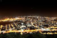 CARTAGENA-COLOMBIA-09-01-2013. Vista nocturna de la Ciudad de Cartagena de Indias, Colombia. Night view of the city of Cartagena de Indias, Colombia. (Photo: VizzorImage)...........
