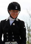 LEXINGTON, KY - APRIL 29: Sydney C Elliot after her ride on #58 Cisko A in the Dressage test at the Rolex Three Day Event, Dressage Day 2, at the Kentucky Horse Park in Lexington, KY.  April 29, 2016 in Lexington, Kentucky. (Photo by Candice Chavez/Eclipse Sportswire/Getty Images)