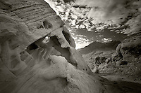 Rock formation and clouds in Valley of Fire State Park, Nevada