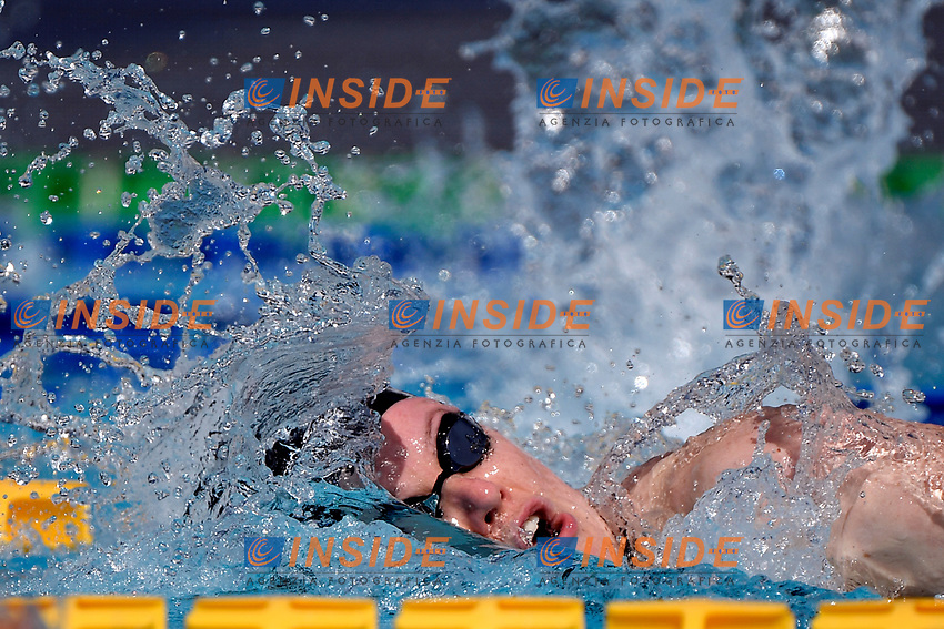 Julia Hassler of Liechtenstein competes in the women 200m freestyle during the 58th Sette Colli Trophy International Swimming Championships at Foro Italico in Rome, June 25th, 2021. Julia Hassler placed 3rd in her heat.