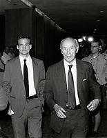 Pierre Trudeau and son Sacha.Festival des Films du Monde 1998