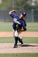 Deiber Sanchez - San Diego Padres 2009 Instructional League.Photo by:  Bill Mitchell/Four Seam Images..