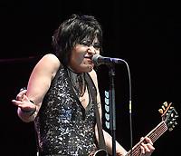 PEMBROKE PINES, FLORIDA - NOVEMBER 04: Joan Jett of the band Joan Jett & the Blackhearts at the Rockfest 80's concert day 1 on November 4, 2017 at CB Smith Park in Penbroke Pines, Florida.<br /> <br /> People:  Joan Jett