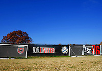 WASHINGTON, DC - NOVEMBER 14, 2012: Signs of DC United during a practice session before the second leg of the Eastern Conference Championship at DC United practice field, in Washington, DC on November 14.