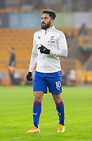 8th January 2021; Molineux Stadium, Wolverhampton, West Midlands, England; English FA Cup Football, Wolverhampton Wanderers versus Crystal Palace; Andros Townsend of Crystal Palace during the warm up
