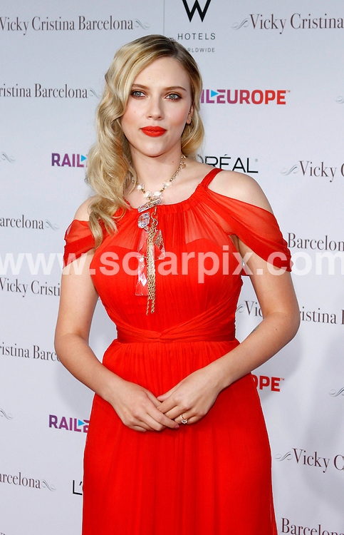 **ALL ROUND PICTURES FROM SOLARPIX.COM**.**SYNDICATION RIGHTS FOR UK, SPAIN, PORTUGAL, AUSTRALIA, S.AFRICA & DUBAI (U.A.E) ONLY**.Woody Allens latest movie Vicky Cristina Barcelona Los Angeles Premiere at the Mann Village Theatre in Westwood California in the USA. .This pic:Scarlett Johansson..JOB REF:6968-PHZ/David Gabber     DATE:04_08_08 .**MUST CREDIT SOLARPIX.COM OR DOUBLE FEE WILL BE CHARGED* *UNDER NO CIRCUMSTANCES IS THIS IMAGE TO BE REPRODUCED FOR ANY ONLINE EDITION WITHOUT PRIOR PERMISSION*