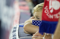 NASHVILLE, TN - SEPTEMBER 5: A USA Fan watches during a game between Canada and USMNT at Nissan Stadium on September 5, 2021 in Nashville, Tennessee.