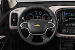 Car pictures of steering wheel view of a 2019 Chevrolet Colorado WT 4 Door Pick Up