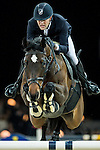Simon Delestre of France riding Csarina de Fuyssieux in action during the Gucci Gold Cup as part of the Longines Hong Kong Masters on 14 February 2015, at the Asia World Expo, outskirts Hong Kong, China. Photo by Johanna Frank / Power Sport Images