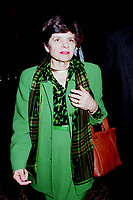Montreal, June 1st, 1999 File Photo<br /> Alice M. Rivlin ;  Vice-Chair, Board of Directors of the Federa Reserve System of the United States on her way to giving a speech during the 5th `` Conference of Montreal `` on economy globalization on June 1st 1999<br /> <br /> Photo by Pierre Roussel,-IMAGES DISTRIBUTION