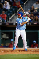 Buffalo Bisons first baseman Rowdy Tellez (21) bats during a game against the Pawtucket Red Sox on May 19, 2017 at Coca-Cola Field in Buffalo, New York.  Buffalo defeated Pawtucket 7-5 in thirteen innings.  (Mike Janes/Four Seam Images)