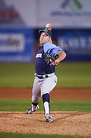 Trenton Thunder relief pitcher J.R. Graham (43) during the second game of a doubleheader against the Hartford Yard Goats on June 1, 2016 at Sen. Thomas J. Dodd Memorial Stadium in Norwich, Connecticut.  Trenton defeated Hartford 2-1.  (Mike Janes/Four Seam Images)