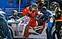 19 March 2011: A driver change for the #68 Porsche of Dion von Moltke, Peter Ludwig and Jim Norman during the 12 Hours of Sebring, Sebring Internatonal Raceway, Sebring, FL. (Photo by Brian Cleary/www.bcpix.com)