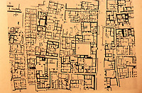 """World Civilization:  Indus Valley--Plan .  City of Mohenjo-Daro, an archeological site situated in the province of Sindh, Pakistan.  Grid """"appears to have been laid out from the beginning.""""  Whitehouse, FIRST CITIES."""