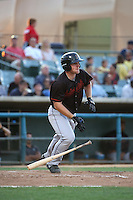 Joe DeCarlo (10) of the Bakersfield Blaze bats against the Lancaster JetHawks at The Hanger on June 18, 2016 in Lancaster, California. Bakersfield defeated Lancaster, 10-7. (Larry Goren/Four Seam Images)