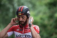 Jelle Vanendert (BEL/Lotto Soudal) pre race.<br /> <br /> <br /> Baloise Belgium Tour 2018<br /> Stage 3: ITT Bornem - Bornem (10.6km)