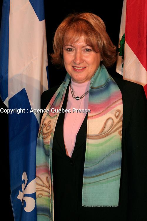 February 16 2006, Montreal (Qc) CANADA<br /> Francoise Gauthier, Quebec Minister of Tourism, Minstre Tourisme Quebec<br /> Photo : Pierre Roussel / Images Distribution