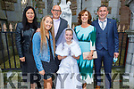 Erin Collins receiving her First Holy Communion from Presentation NS in St John's Church on Saturday. Front: Lily and Erin Collins. Back l to r: Theresa Glock, Gerard Collins, Sharon Creadon and Paidi O'Shea
