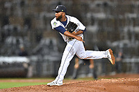 Southern Division pitcher Adonis Uceta (30) of the Columbia Fireflies delivers a pitch during the South Atlantic League All Star Game at Spirit Communications Park on June 20, 2017 in Columbia, South Carolina. The game ended in a tie 3-3 after seven innings. (Tony Farlow/Four Seam Images)