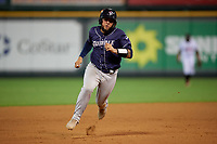 Binghamton Rumble Ponies Ali Sanchez (20) running the bases during an Eastern League game against the Richmond Flying Squirrels on May 29, 2019 at The Diamond in Richmond, Virginia.  Binghamton defeated Richmond 9-5 in ten innings.  (Mike Janes/Four Seam Images)