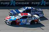 Monster Energy NASCAR Cup Series<br /> FireKeepers Casino 400<br /> Michigan International Speedway, Brooklyn, MI USA<br /> Sunday 18 June 2017<br /> Martin Truex Jr, Furniture Row Racing, Auto-Owners Insurance Toyota Camry Kyle Busch, Joe Gibbs Racing, M&M's Red, White & Blue Toyota Camry<br /> World Copyright: Matthew T. Thacker<br /> LAT Images