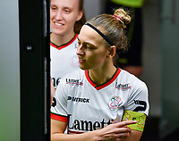 Pauline Windels (5) of Zulte-Waregem pictured during a female soccer game between RSC Anderlecht Dames and SV Zulte Waregem on the 10 th matchday of the 2020 - 2021 season of Belgian Womens Super League , friday 18 th of December 2020  in Tubize , Belgium . PHOTO SPORTPIX.BE | SPP | DAVID CATRY