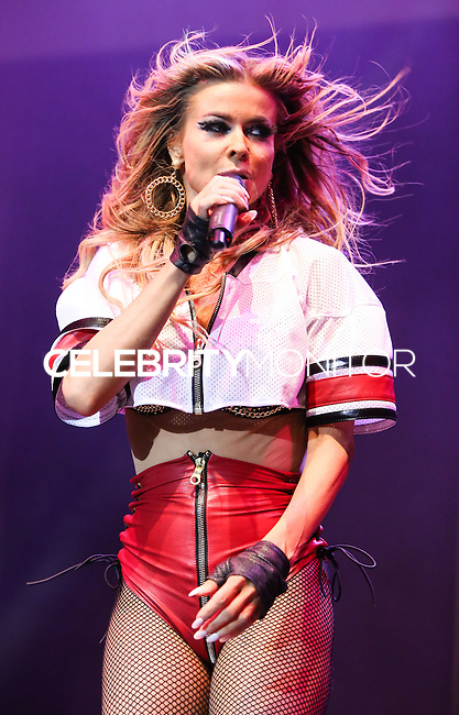 HOLLYWOOD, LOS ANGELES, CA, USA - JUNE 04: Carmen Electra performs during the Elevate Concert Series held at Avalon Hollywood on June 4, 2014 in Hollywood, Los Angeles, California, United States. (Photo by Xavier Collin/Celebrity Monitor)